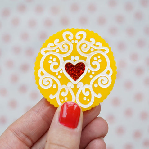 Jammy Heart Statement Brooch