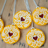 Jammy Heart Statement Necklace