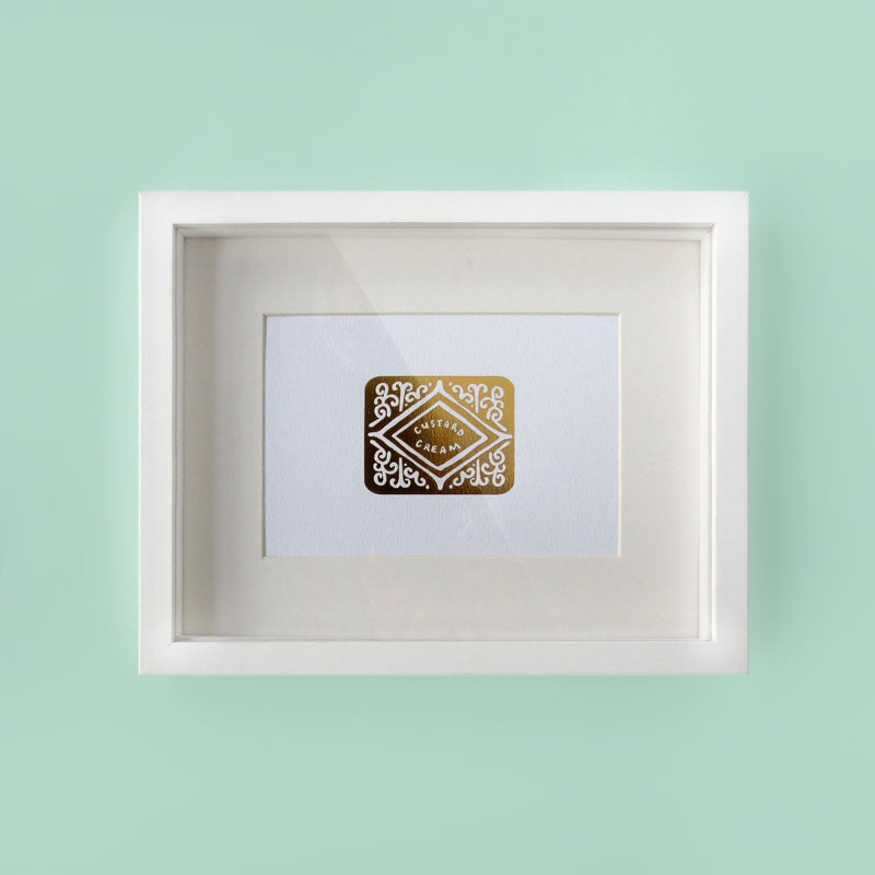 Golden Custard Cream Foil Print