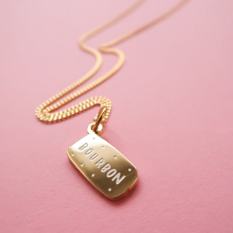 Itty Bitty Golden Bourbon Necklace