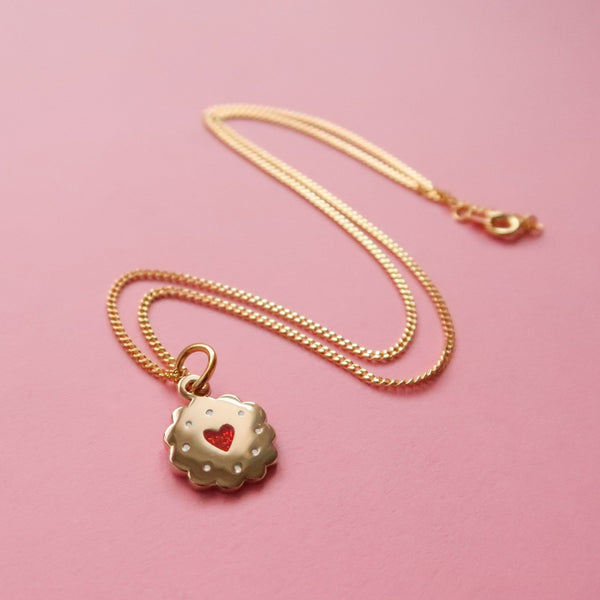 Itty Bitty Golden Jammy Heart Necklace