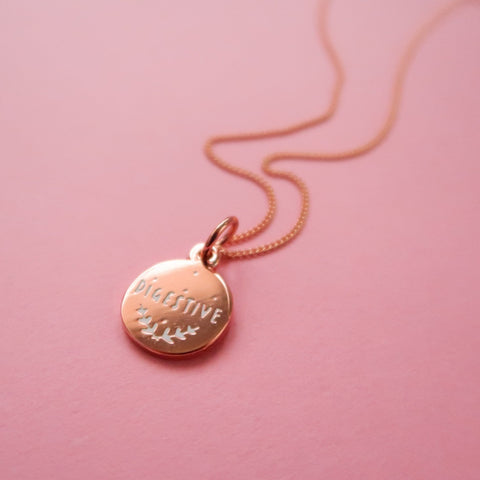 Itty Bitty Rose Gold Digestive Necklace