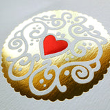 Gold & Ruby Jammy Heart Foil Print