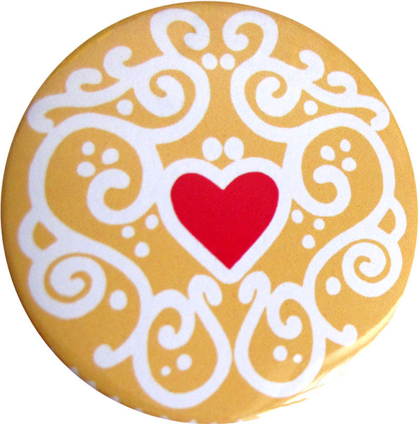 Jammy Heart Pocket Mirror