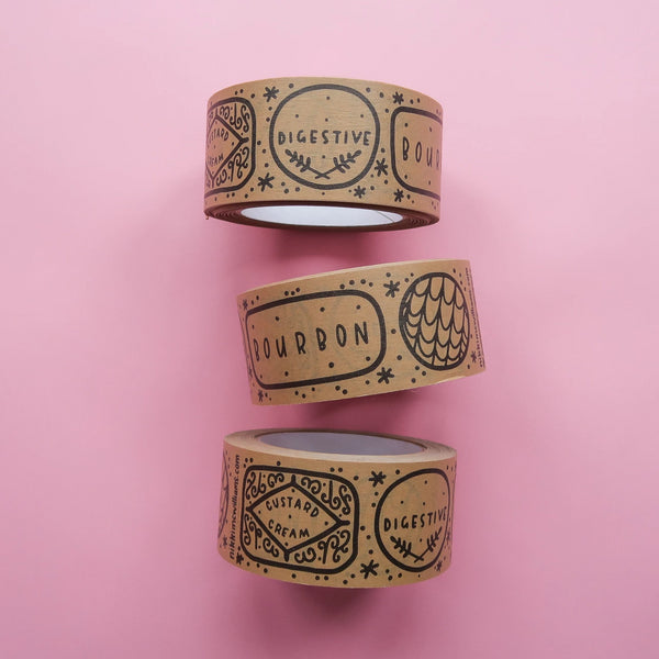 Kraft Paper Biscuits Tape - 50mm wide