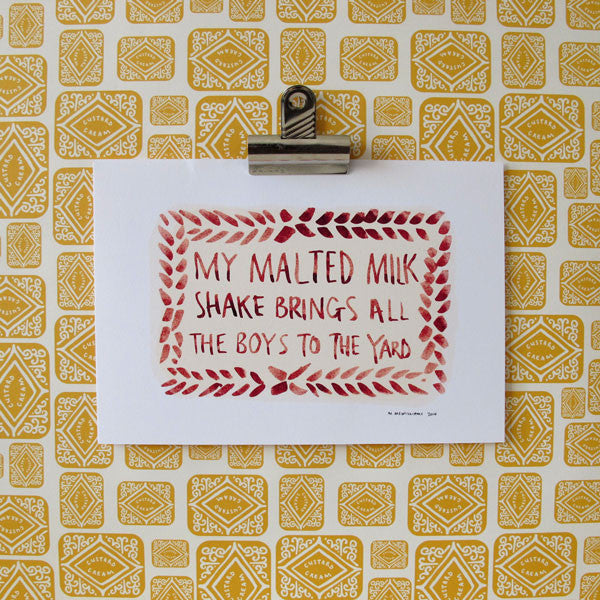 Malted Milk Shake Digital Print