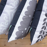 All 4 Monochrome Printed Biscuit Cushions