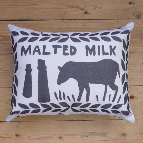 Monochrome Malted Milk Printed Cushion
