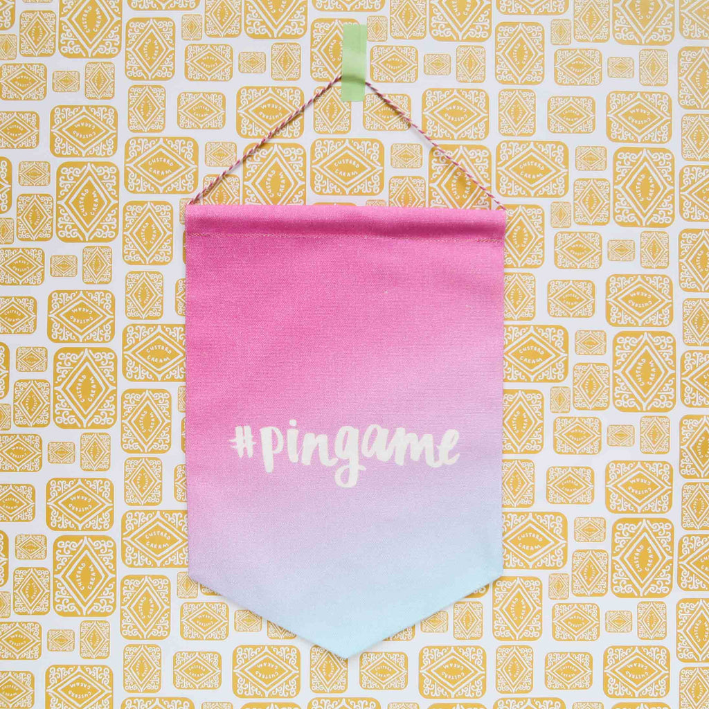 SALE - Pingame Printed Fabric Banner - Summer Sunset Ombre