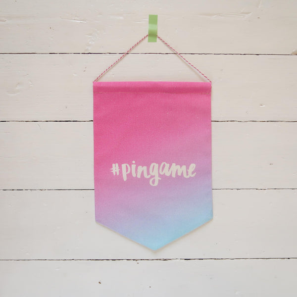 Pingame Printed Fabric Banner - Summer Sunset Ombre