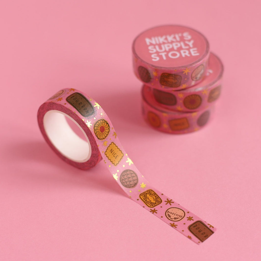Twinkly Biscuits Washi Tape - Pink