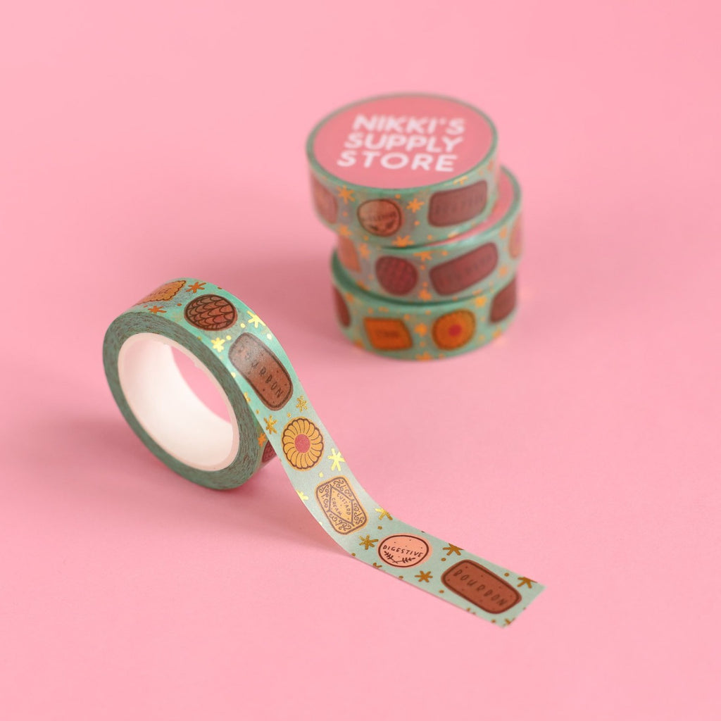 Twinkly Biscuits Washi Tape - Mint