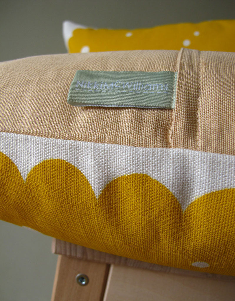 Nice Biscuit Cushion by Nikki McWilliams