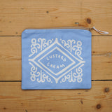 Custard Cream Pouch - Sky Blue