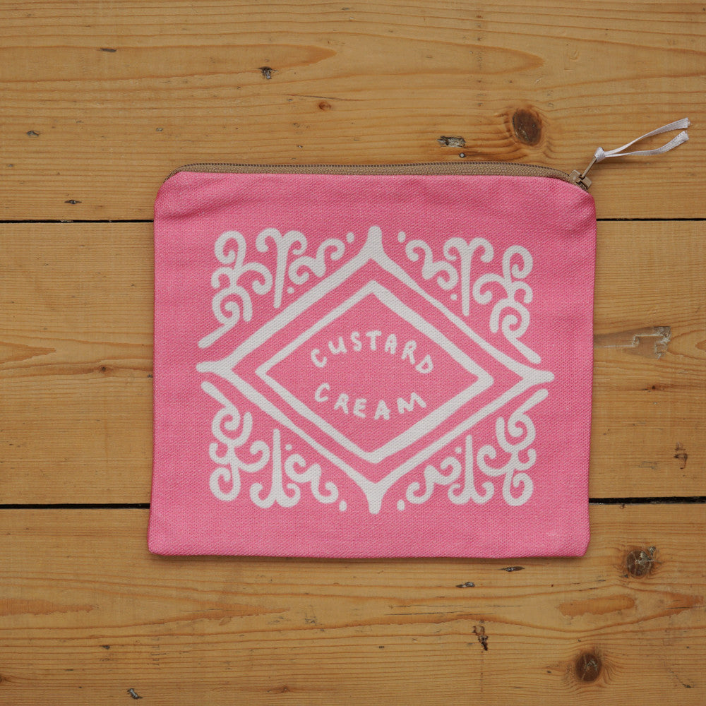 SALE - Custard Cream Pouch