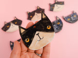 Black and White Kitty Ceramic Decoration