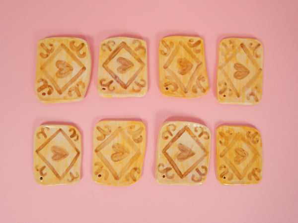 Custard Cream Ceramic Decoration