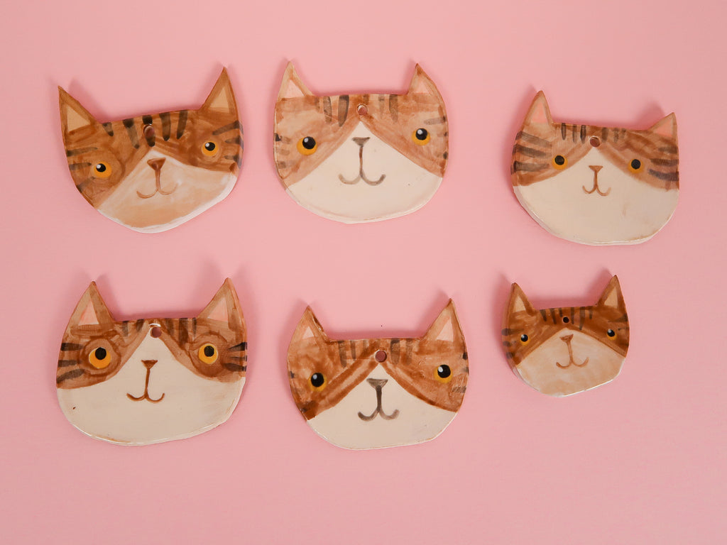Tabby Kitty Ceramic Decoration