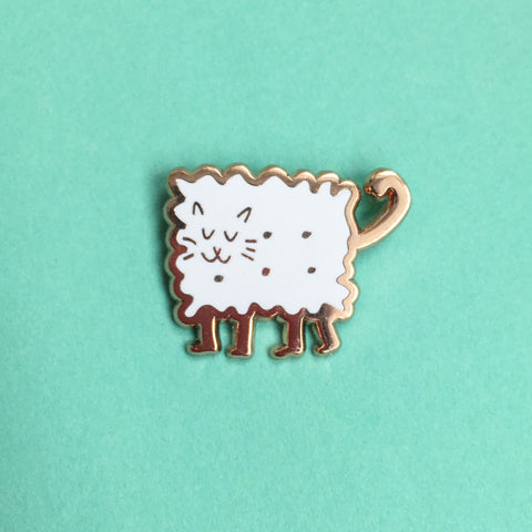 Biscuit Kitty Enamel Pin