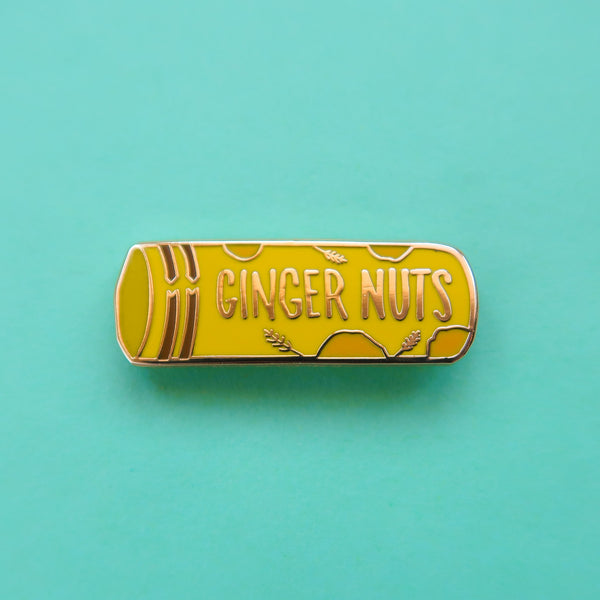 Packet of Ginger Nut Biscuits Enamel Pin