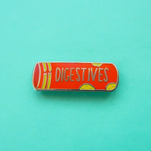 Packet of Digestive Biscuits Enamel Pin