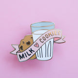 Milk and Cookies Enamel Pin