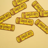 Ginger Nut Biscuits Iron-On Embroidered Patch