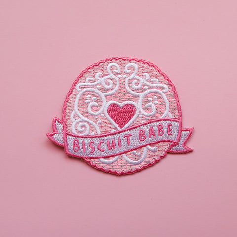 Biscuit Babe Iron-On Embroidered Patch