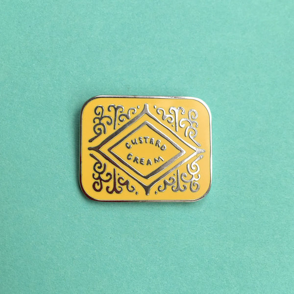 PRE-ORDER Custard Cream Biscuit Enamel Pin