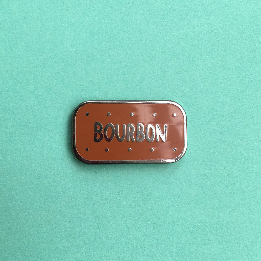 Bourbon Biscuit Enamel Pin