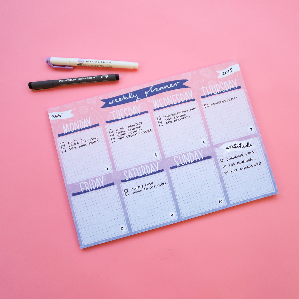 Ombre Biscuits Weekly Planner Pad