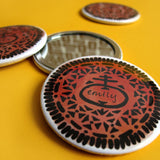 Personalised Cookie Pocket Mirror