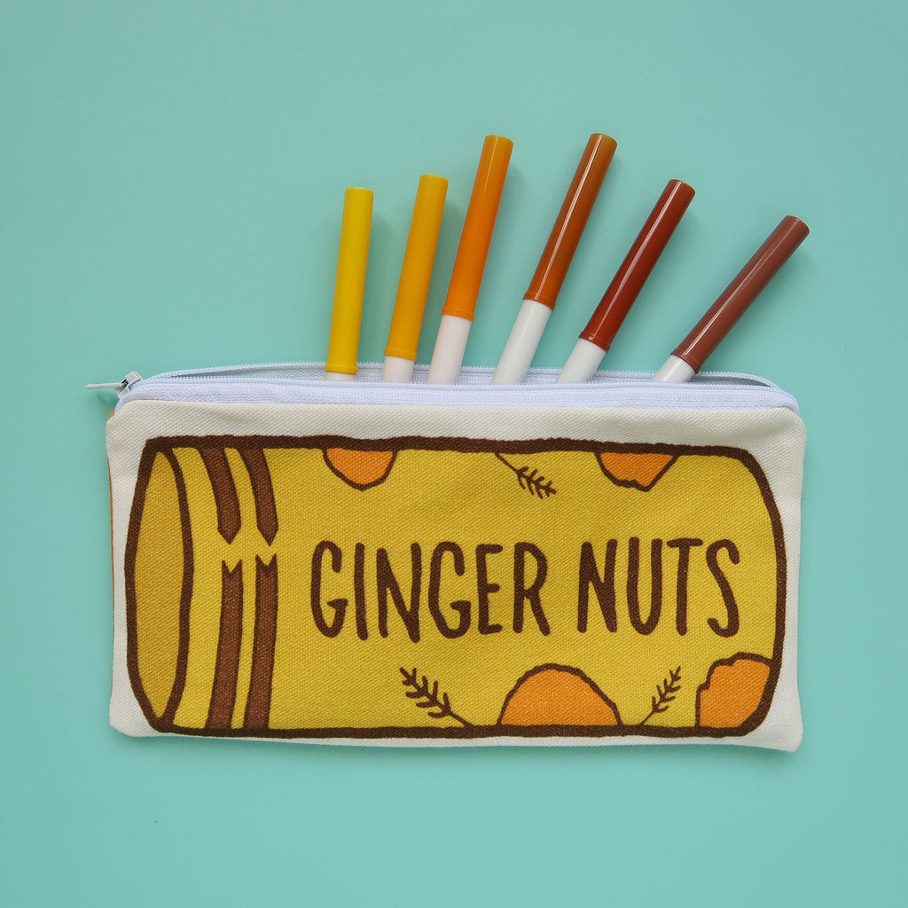 SALE - Ginger Nut Biscuits Pencil Case