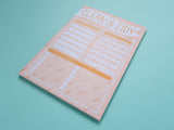 Clean and Tidy Planner Pad
