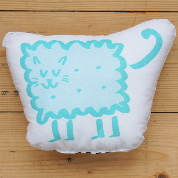 Plush Biscuit Kitty - Malty in Mint Green