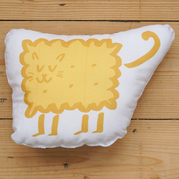 Plush Biscuit Kitty - Malty in Custard Yellow