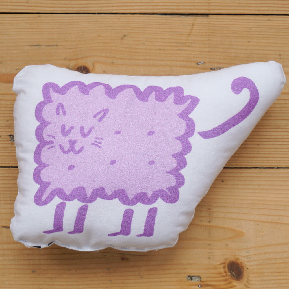 Plush Biscuit Kitty - Malty in Parma Violet