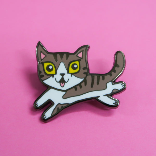 Raj Tabby Cat Enamel Pin
