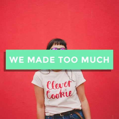 SALE - Clever Cookie Cotton T-Shirt