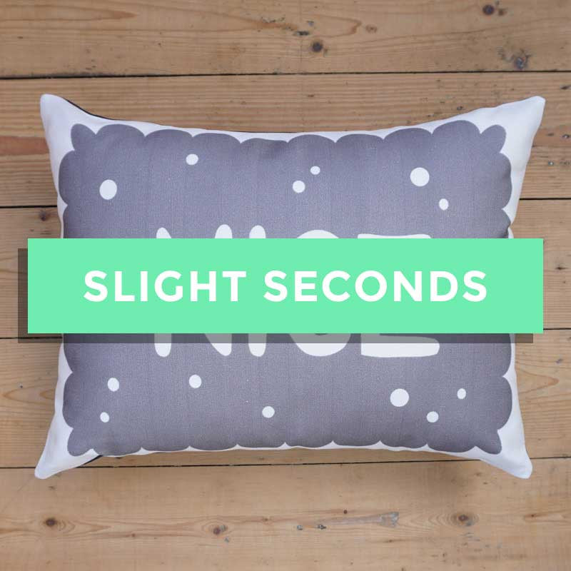 SALE - Monochrome Nice Biscuit Printed Cushion