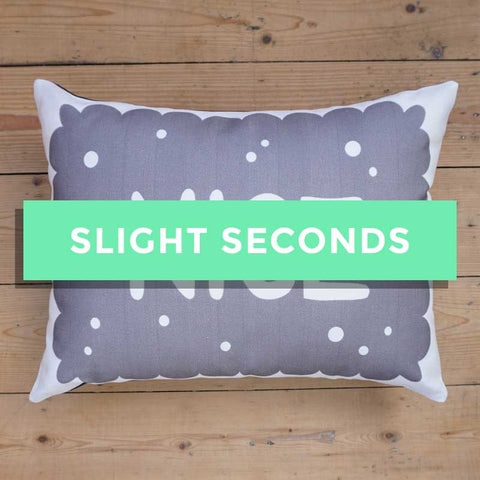 SALE - Monochrome Nice Biscuit Printed Cushion (Streaky Print)