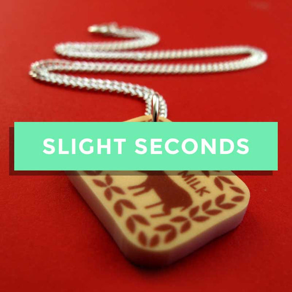 SALE - Malted Milk Biscuit Mini Charm Necklace