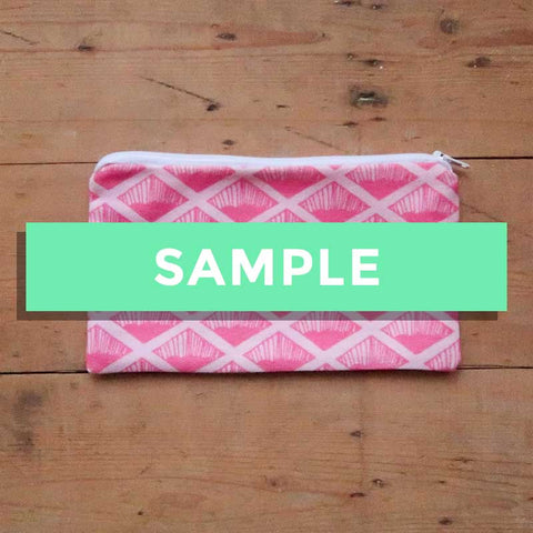 SALE - Sample Stock - Pink Wafer Pouch / Pencil Case
