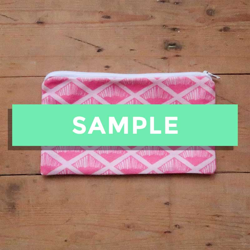 5cccd0cfefb1 SALE - Sample Stock - Pink Wafer Pouch   Pencil Case