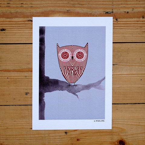 Teacake Owl Digital Print