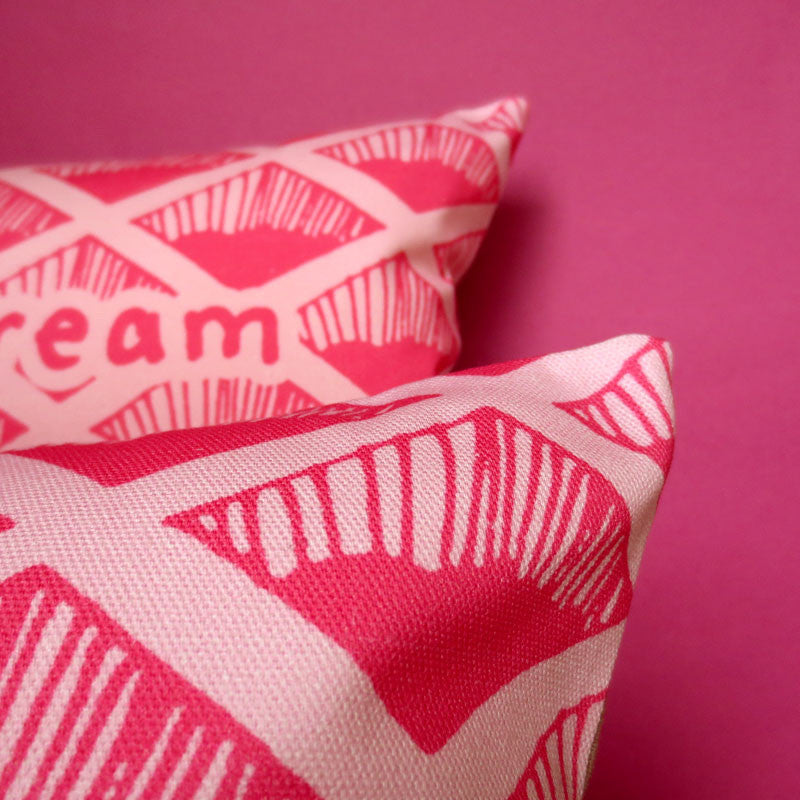 Pink Wafer Biscuit Printed Cushion