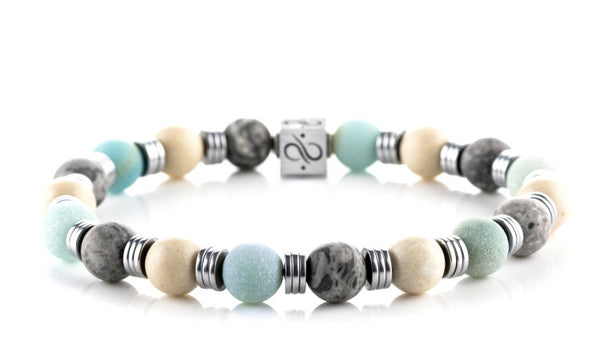 Wired Mint Mixed, 8mm, Silver bracelet