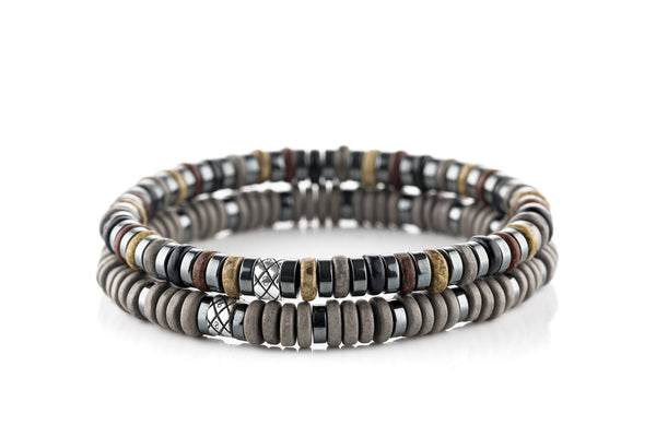 Abacus Set Dark Hematite - Brown/Black/Grey