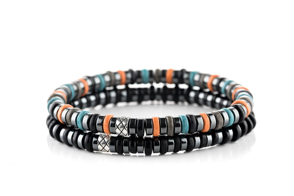 Abacus Set Dark Hematite - Orange/Blue/Black