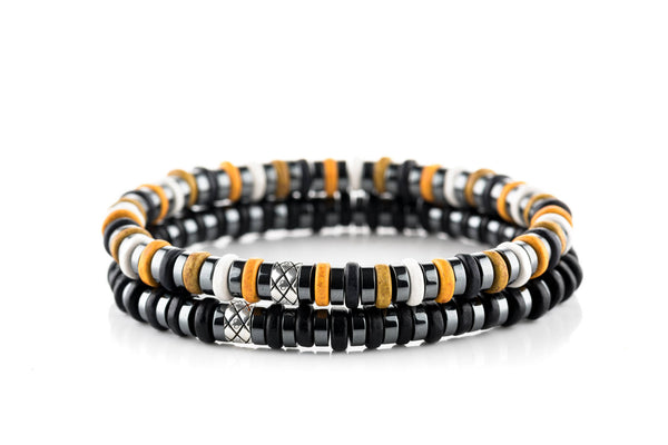 Abacus Set Dark Hematite - Yellow/Black